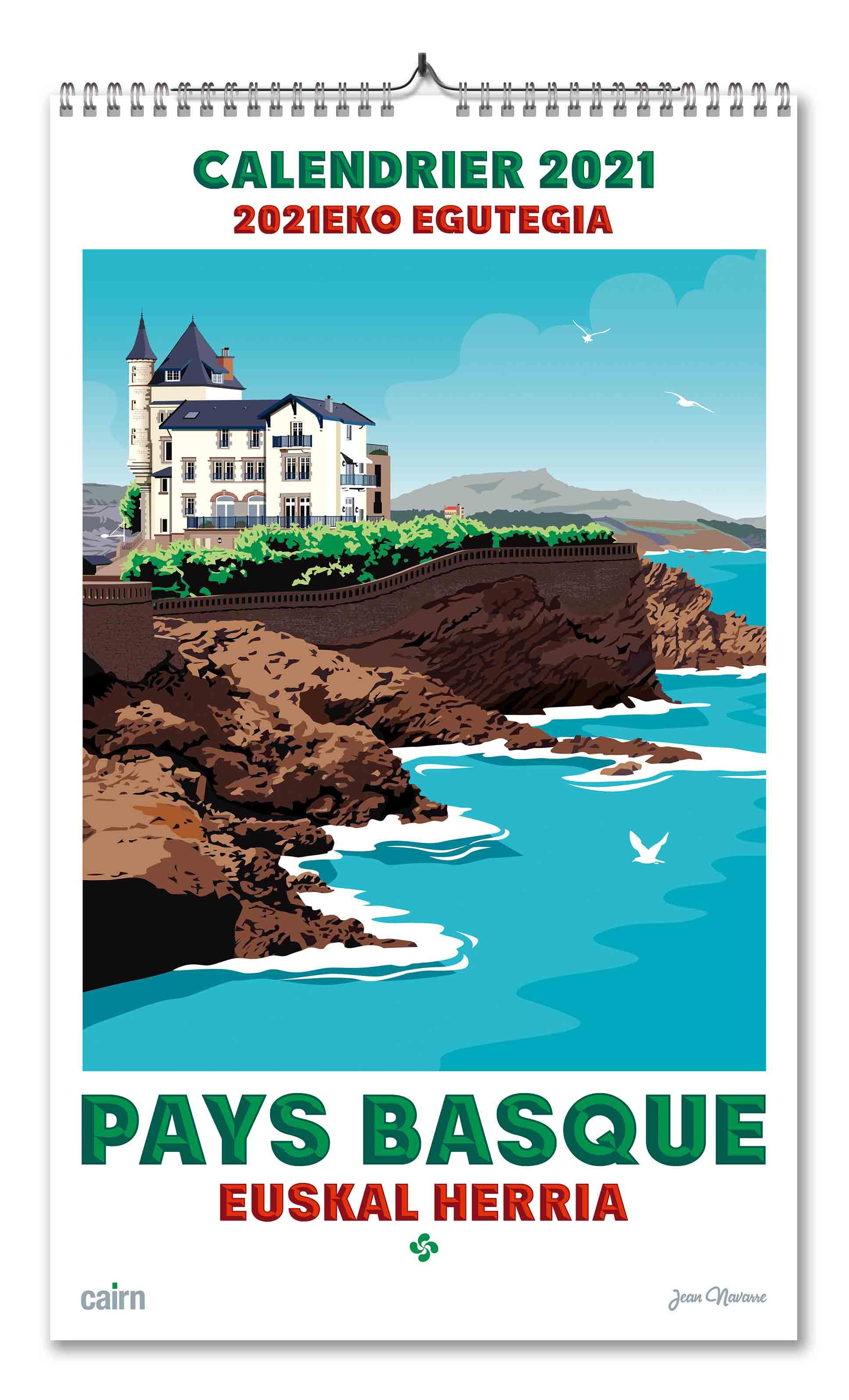 Calendrier 2021 Pays basque de Jean Navarre