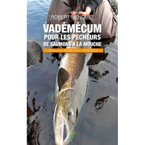 Couverture du « Vadémécum pour les pécheurs de saumons à la mouche » de Robert MENQUET aux éditions Le Trieux