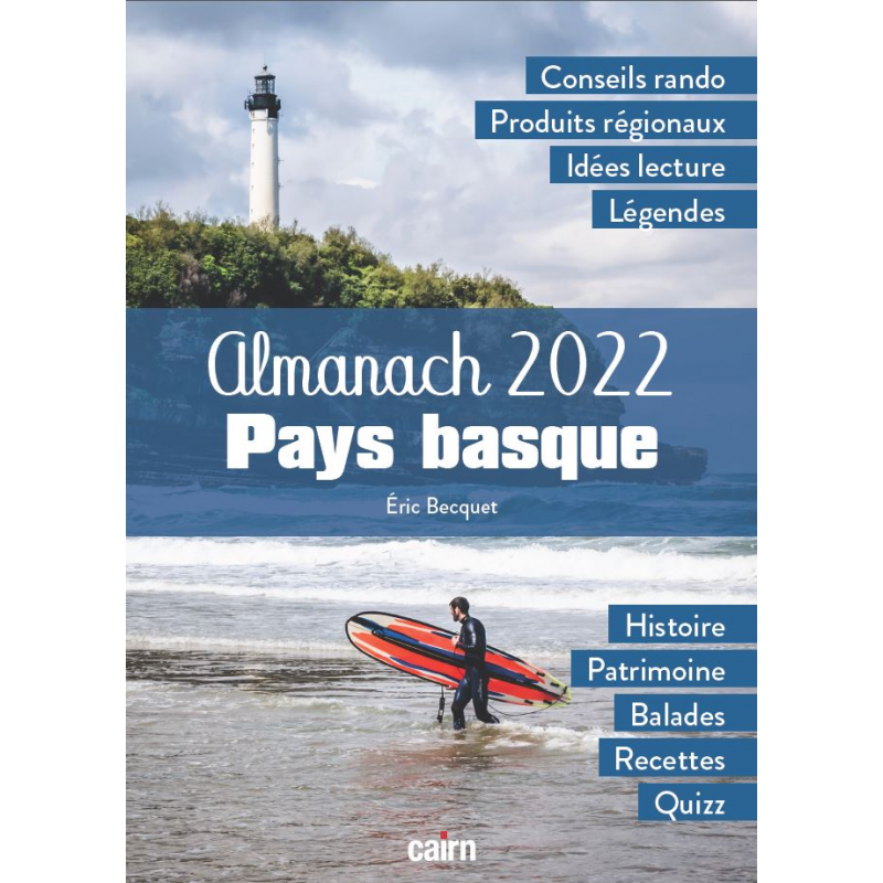 Couverture de l'Almanach 2022 Pays basque d'Eric Becquet aux éditions Cairn