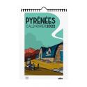 Couverture du Calendrier 2022 Pyrénées par Jobomart aux éditions cairn