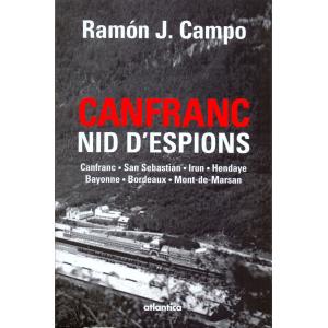 Couverture de « Canfranc nid d'espions » d'Emmanuelle Debur aux éditions Atlantica