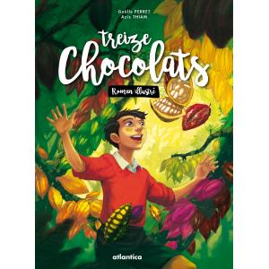 Couverture de « Treize chocolats » de Gaëlle Perret et Aziz Thiam aux éditions Atlantica