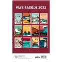 Calendrier Pays basque 2022 par Jobomart aux éditions Cairn