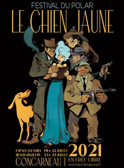 """Salon du polar """" Le chien Jaune """" 2021 à Concarneau"""